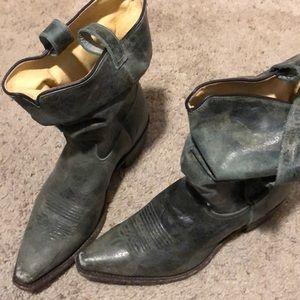 Sundance green leather boots